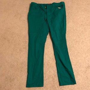 Pants - gorgeous green pants - size 14 w/ zipper & pockets